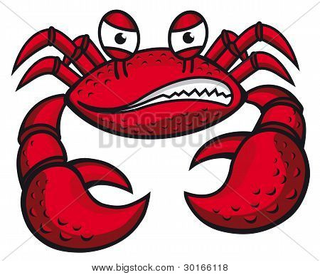 Angry Crab With Claws