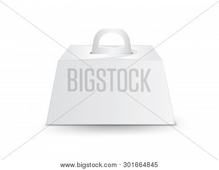 Caring Birthday Cake Box, White Package Box Vector, Package Design, 3d Box, Product Design, Realisti