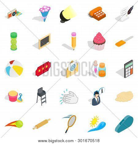 Delectation Icons Set. Isometric Set Of 25 Delectation Icons For Web Isolated On White Background