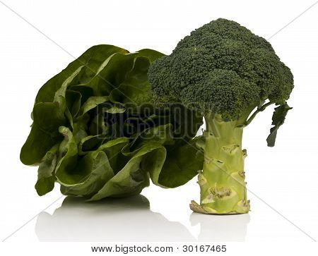 Broccoli And Lettuce