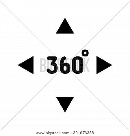 Virtual Reality 360 Degrees Vr Camera Icon Text Illustration 360 Degrees Angle