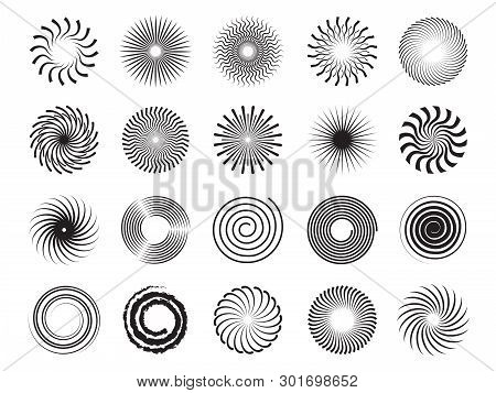 Swirls Shapes. Scrolls Circle Forms Spirals And Whirlpool Symbols Abstract Vector Ornament. Scroll A