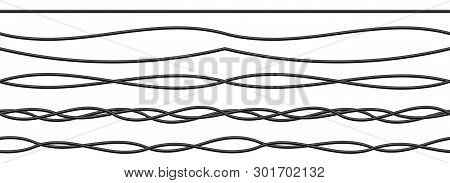 Creative Vector Illustration Of Realistic Electrical Wires Flexible Network, Connection Industrial P