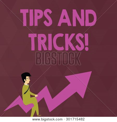 Writing Note Showing Tips And Tricks. Business Photo Showcasing Means Piece Advice Maybe Suggestion