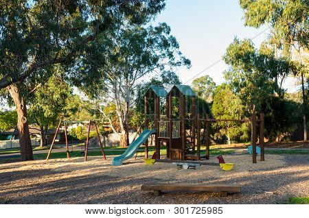 Playground In Cobham Reserve In Mitcham In The Eastern Suburbs Of Melbourne, Australia