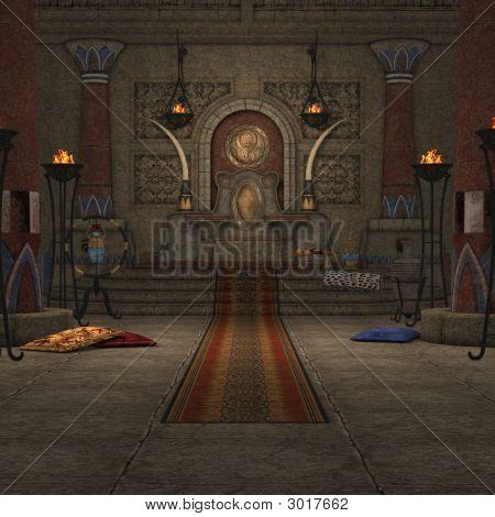 Fantasy Throne Room