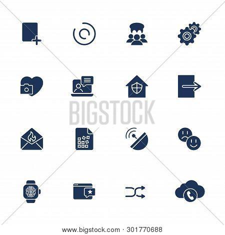 Flat Design Icons Set Modern Style Vector Illustration Concept Of Web Development Service, Social Me