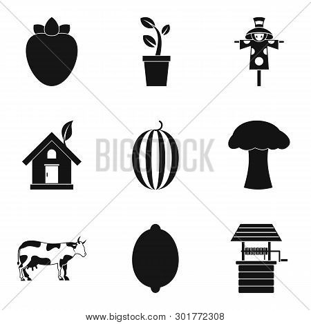 Beneficial Food Icons Set. Simple Set Of 9 Beneficial Food Icons For Web Isolated On White Backgroun