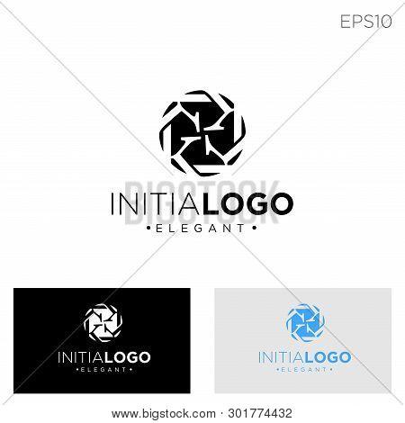 Monogram Initial K, Kk, K Logo Template Black Color Vector Illustration