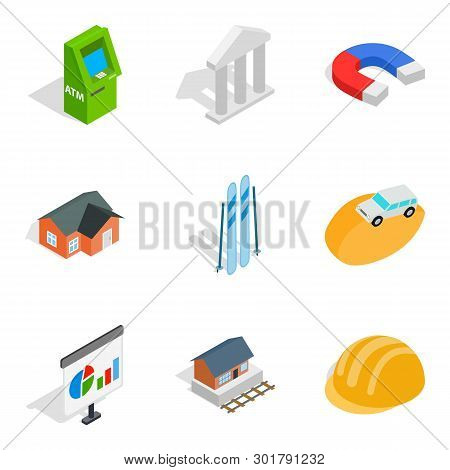 Capital Expenditure Icons Set. Isometric Set Of 9 Capital Expenditure Icons For Web Isolated On Whit