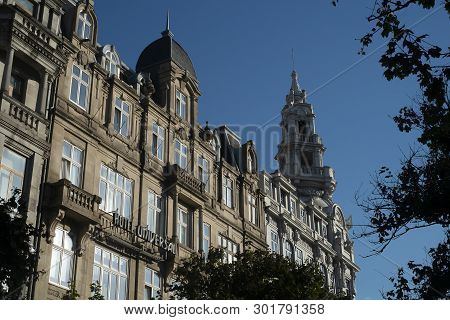 Building Facade In Porto, Portugal