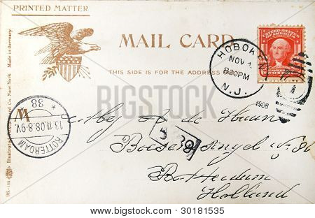 Vintage American Postcard Of 1908