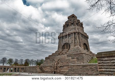 Leipzig, Germany - October 2018: The Monument To The Battle Of The Nations, Memorial Of The Defeat O