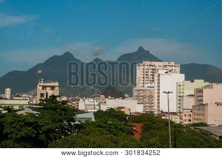 Rio De Janeiro, Brazil: Favela, Crowded Brazilian Slum In Rio De Janeiro