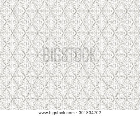 Vector Geometric Floral Pattern. Ornamental Seamless Texture In Traditional Ethnic Style. Abstract M