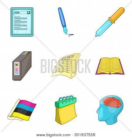 Organization Icons Set. Cartoon Set Of 9 Organization Icons For Web Isolated On White Background