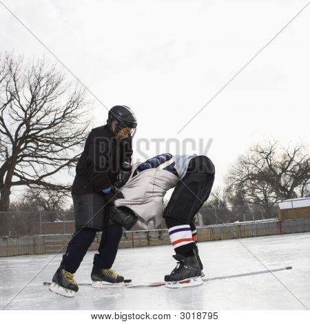 Ice Hockey Roughing.