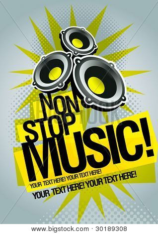 Music concept poster template. Elements are layered separately in vector file. Easy editable graphics.