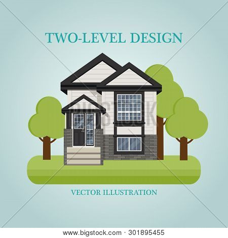 Duplex Design On A Blue Background With The Inscription