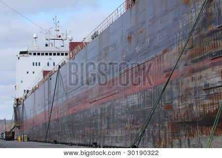 Container Ship in Dock