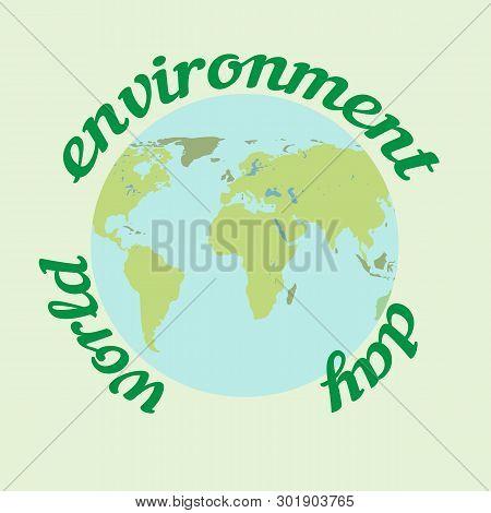 World Environment Day. Ecology Concept. Environment Plastic Pollution. Eco Friendly Concept. Green E