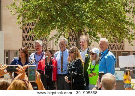 Phoenix, Arizona-may 18- Brandy Vaughan, Del Bigtree,  Rep. Nancy Barto, Robert F Kennedy Jr., Rep.