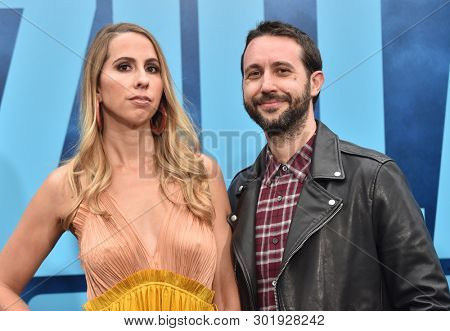 LOS ANGELES - MAY 18:  Lauren LaRocca and Jason LeRocca arrives for the 'Godzilla: King of the Monstersl' Hollywood Premiere on May 18, 2019 in Hollywood, CA