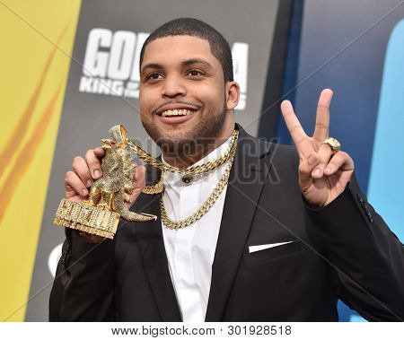 LOS ANGELES - MAY 18:  O'Shea Jackson Jr. arrives for the 'Godzilla: King of the Monstersl' Hollywood Premiere on May 18, 2019 in Hollywood, CA