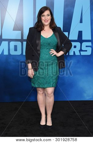 LOS ANGELES - MAY 18:  Allison Tolman arrives for the 'Godzilla: King of the Monstersl' Hollywood Premiere on May 18, 2019 in Hollywood, CA