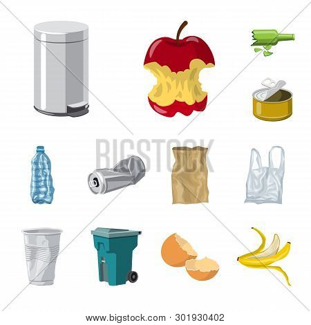 Vector Design Of Environment  And Waste Logo. Collection Of Environment  And Ecology Stock Symbol Fo