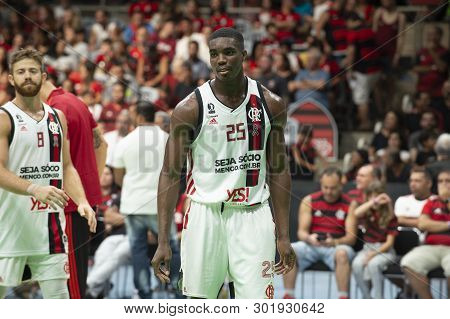 Rio, Brazil - May 19, 2019: Nesbitt Players During Flamengo Vs. Franca For The First Play-off Of The