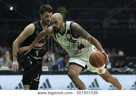 Rio, Brazil - May 19, 2019: Marquinhos Players During Flamengo Vs. Franca For The First Play-off Of