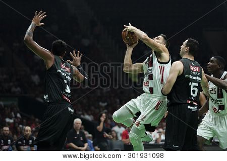 Rio, Brazil - May 19, 2019: Mineiro Players During Flamengo Vs. Franca For The First Play-off Of The