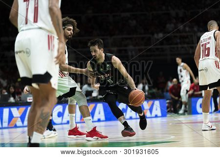 Rio, Brazil - May 19, 2019: Elinho Players During Flamengo Vs. Franca For The First Play-off Of The