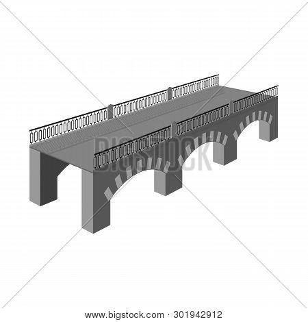 Vector Illustration Of Bridge And Relocation Icon. Set Of Bridge And Column Stock Symbol For Web.
