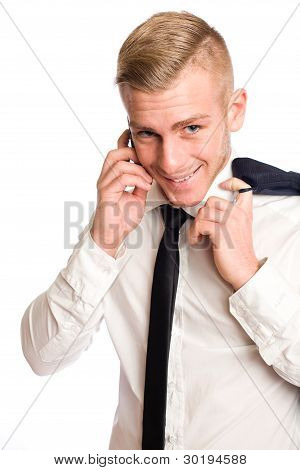 Young Businessman With Mischievious Smile.
