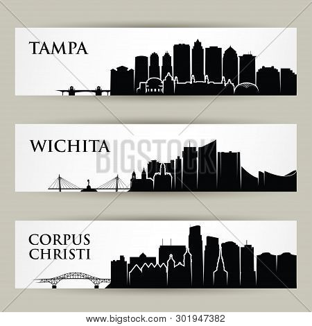 Cities Skylines - Tampa, Wichita, Corpus Christi Florida, Kansas, Texas United States Of America Usa