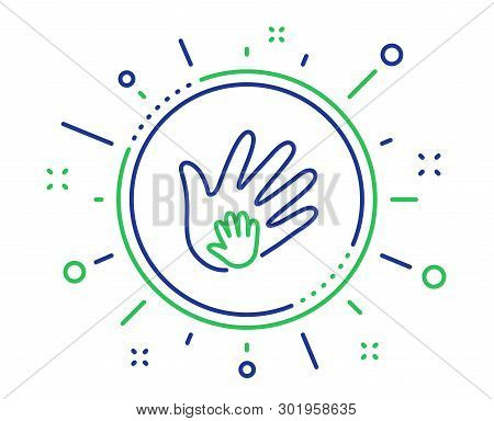 Hand Line Icon. Social Responsibility Sign. Honesty, Collaboration Symbol. Quality Design Elements.