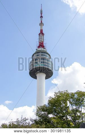 Sep 1, 2018, Seoul, South Korea : N Seoul Tower On Namsan Mountain At Seoul, South Korea