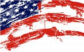 American flag background fully editable vector illustration can be scaled to any size without quality loss poster