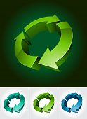 environmental 3d symbol poster