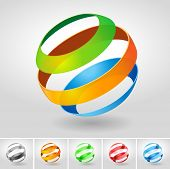 Vector transparency sphere symbol set. poster