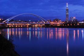 Night scenes of the Taipei city