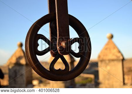 Metal Pulley Used In Ancient Times To Draw Water From Wells