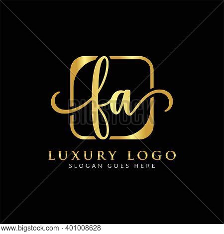 Initial Fa Letter Logo With Creative Modern Business Typography Vector Template. Creative Letter Fa