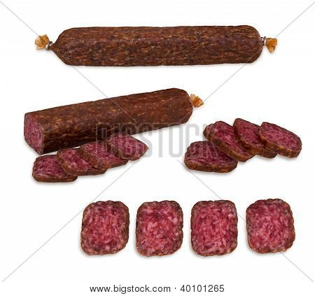 Sausage isolated on white background. With clipping path.