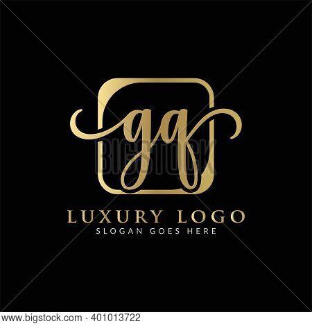 Initial Gq Letter Logo Creative Modern Typography Vector Template. Creative Luxury Letter Gq Logo De