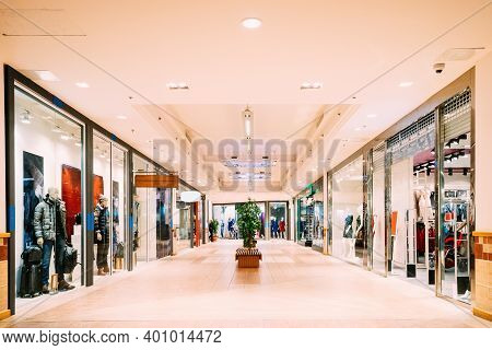 Shops With Clothes At The Modern Shopping Mall Shopping Centre