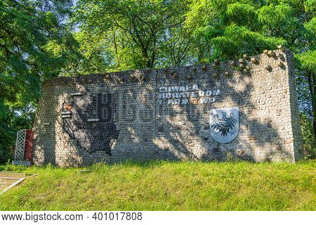 Stare Lysogorki, Poland, June 2019 Memorial And Remembrance Wall For Soldiers And Their Sacrifice, F