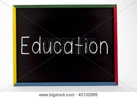 Education Written On Small Students Slate Board
